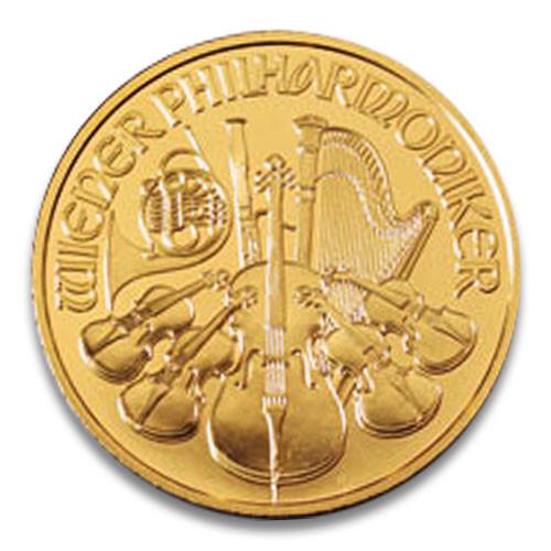 Wiener Philharmoniker Gold 1/25 oz verschiedene
