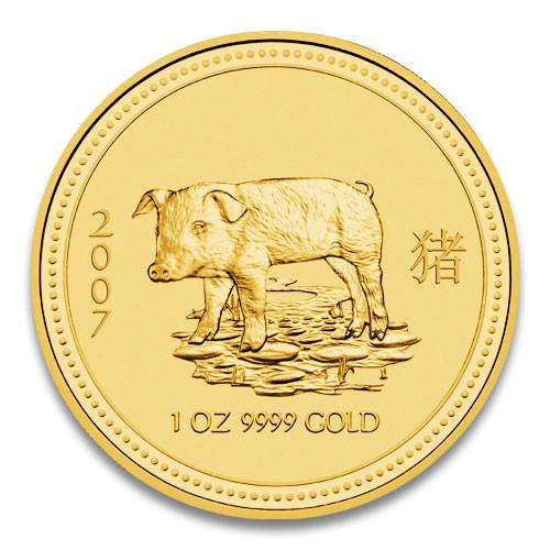 Lunar I Schwein 2007 Gold 1 oz