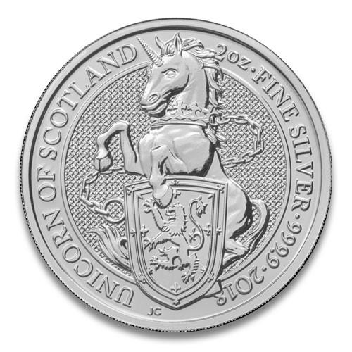 Queens Beast Unicorn Silber 2 oz 2018