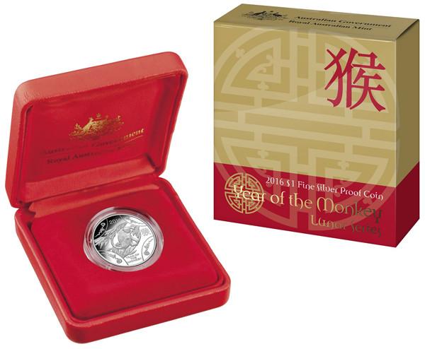 RAM Lunar Affe 2016 Silber 11,66 g polierte Platte