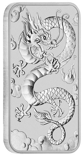 Dragon Rectangular Australien 2019 Silber 1 oz