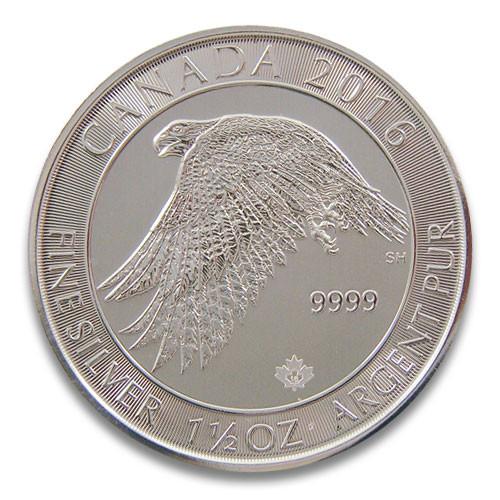 Kanada Schneefalke Silber 1,5 oz 2016