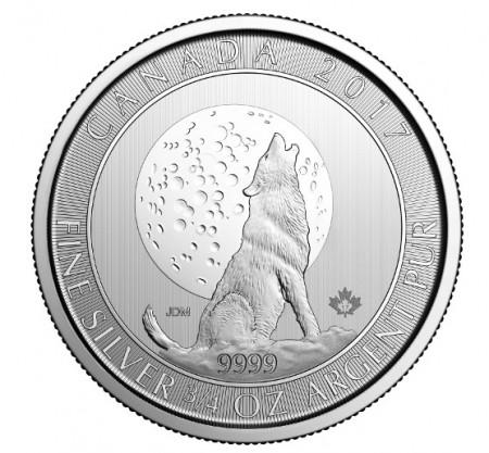 Maple Leaf Silber 3/4 oz 2017 - Heulender Wolf und Mond