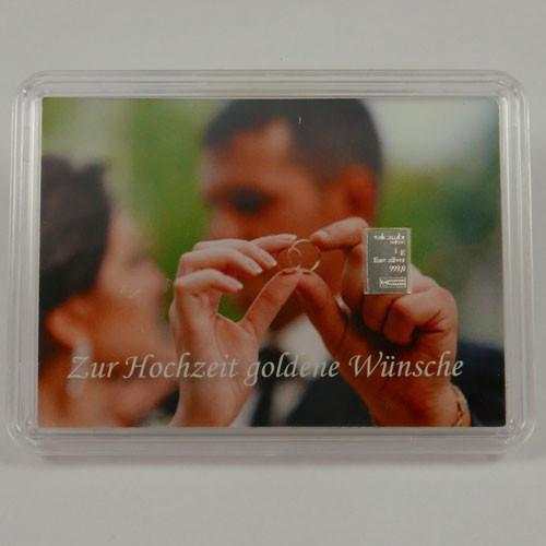 Silberbarren Valcambi 1 g - Hochzeit - Goldene Wünsche