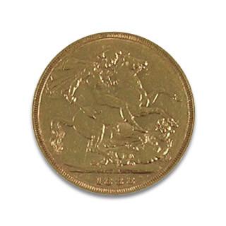 Sovereign 1 Pfund Victoria hochgesteckte Haare Pferd