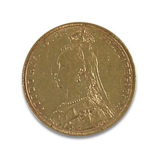 Sovereign 1 Pfund Victoria Schleier