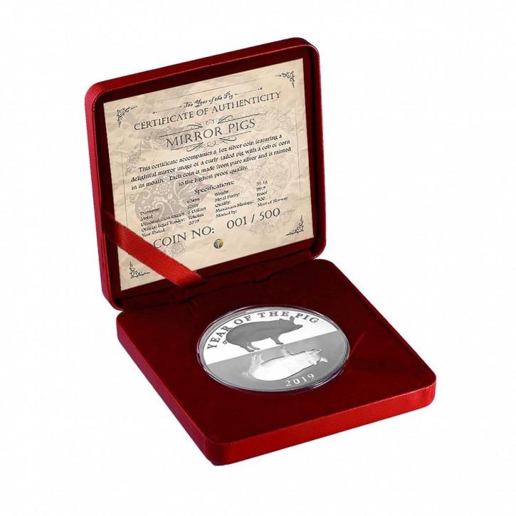 Tokelau - Lunar Schwein Silber 1 oz 2019 PP