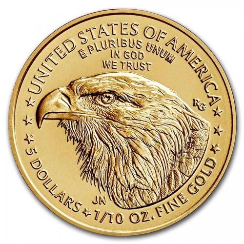American Eagle Gold 1/10 oz 2021 neues Motiv