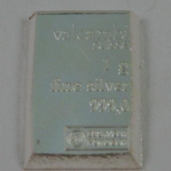 Silberbarren Valcambi 1 g - lose