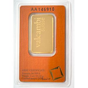 Goldbarren Valcambi 1 oz