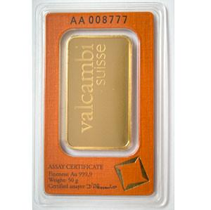 Goldbarren Valcambi 50 g
