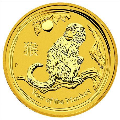 Lunar II Affe 2016 Gold 1/20 oz