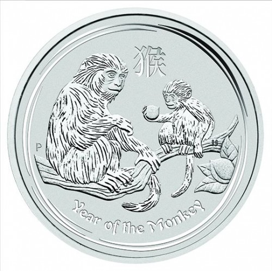 Lunar II Affe 2016 Silber 10 oz