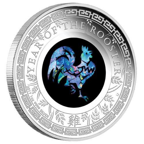 Lunar Opal Hahn 2017 Silber 1 oz
