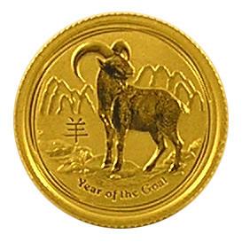 Lunar II Ziege 2015 Gold 1/10 oz