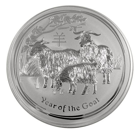 Lunar II Ziege 2015 Silber 10 kg