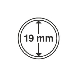 Münzkapsel Innendurchmesser 19 mm