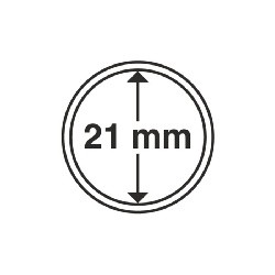 Münzkapsel Innendurchmesser 21 mm