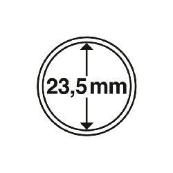 Münzkapsel Innendurchmesser 23,5 mm