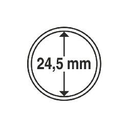 Münzkapsel Innendurchmesser 24,5 mm
