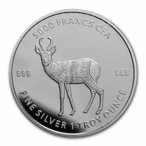 Mandala Antilope Tschad 2021 Silber 1 oz
