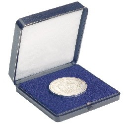 Münzetui blau für 1 Münze bis 60 mm