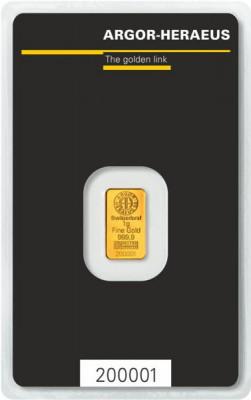Goldbarren Argor-Heraeus Kinebar 1 g