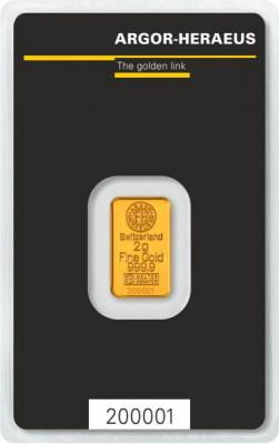 Goldbarren Argor-Heraeus Kinebar 2 g