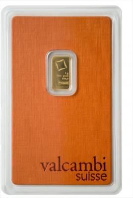 Goldbarren Valcambi 1 g