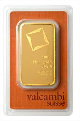 Goldbarren Valcambi 100 g