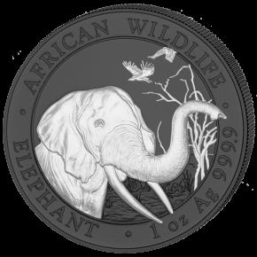 2 x Somalia Elefant Black and White Silber 1 oz 2018