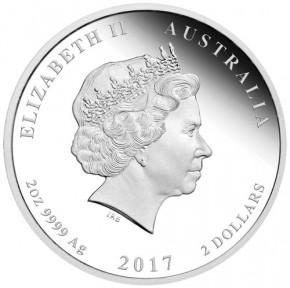 Lunar II Hahn 2017 Silber Set 1/2, 1 und 2 oz polierte Platte
