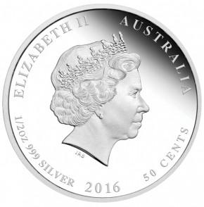 Lunar II Affe 2016 Silber 1/2 oz polierte Platte